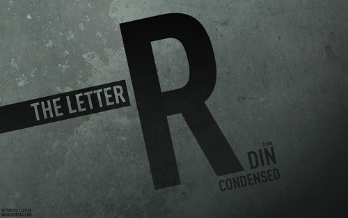 The Letter R in DIN