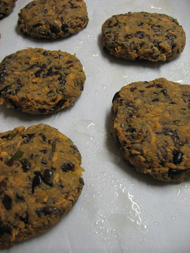 Spicy Black-Bean Cakes, Flattened into Patties