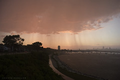 Sunset Thunderstorm, Milwaukee, WI (DFasules) Tags: sunset weather wisconsin clouds milwaukee thunderstorm wisconsinthunderstorms