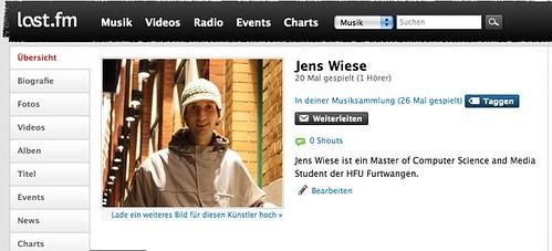 Jens Wiese – Kostenlos anhören bei Last.fm