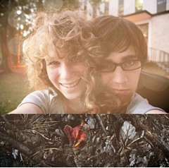 loveylove (Alejandra Maria) Tags: fall alex leaves campus diptych little bokeh bubbie lsu be really chubby instead 2008 should studying