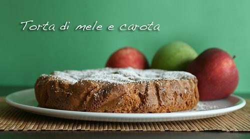 Torta di mele e carota