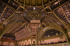 Grand Palais - The board (jmvnoos in Paris) Tags: roof brown paris france geometric lines museum architecture nikon curves muse ceiling line roofs vault curve museums marron ceilings lignes ligne vaults grandpalais d300 courbe courbes gomtrique muses jmvnoos