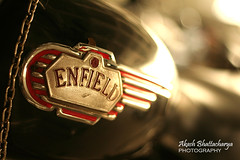 """Royal"" Enfield (@k@sh) Tags: canon 350d 50mm parking machine sound area rahul akash manyata alcatellucent"