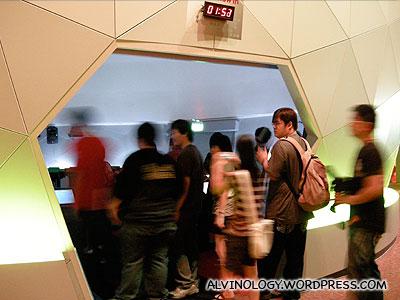 Entering a terrorist attack simulator
