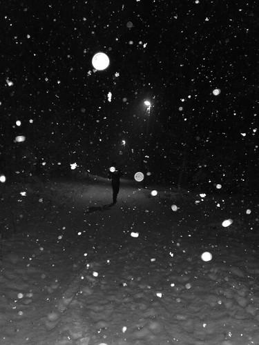 Snowy jogging :) by mismisimos.