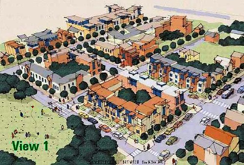 planned neighborhood development in Columbus, OH (image courtesy of Goody Clancy architects)