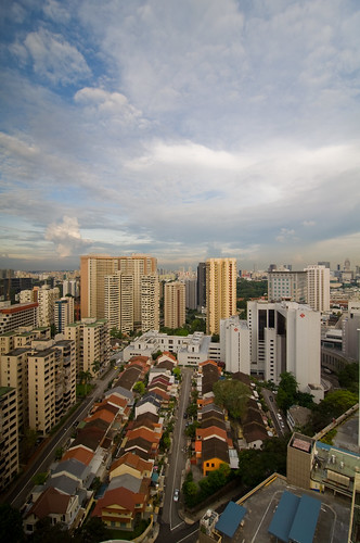 View from room 2809, 28th floor of Marriot Hotel, Orchard Road