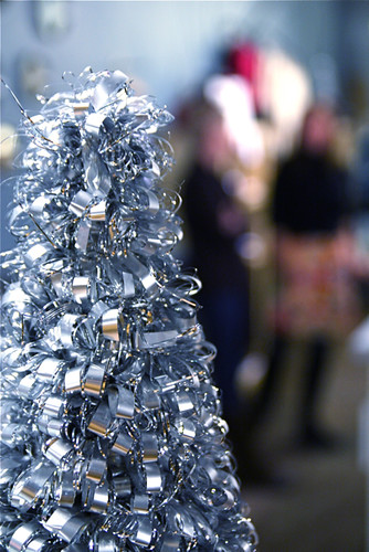 Silver Christmas Tree Urban Holiday Shop Hop 12-4-08