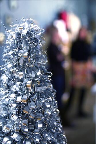 Silver Christmas Tree Urban Holiday Shop Hop 12-4-08