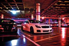 Colors (j.hietter) Tags: auto show california roof white black car mercedes benz la garage parking wheels center whole 2008 motorsports staples platinum motorsport cls brabus wholecar