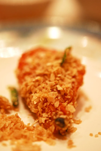Fried Prawns with oats in french style - DSC_8359