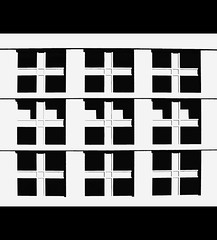 study in black & white (eYe_image) Tags: abstract window facade blackwhite michigan detroit dia mywinners