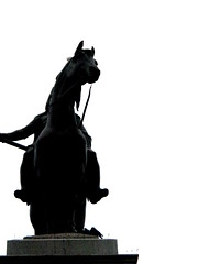 War Horse (Fabstr) Tags: sky horse white black feet silhouette statue carpet grey body fabian fabe fabstr