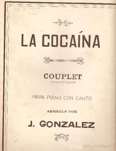 La Cocaina para piano y Canto