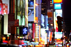 Walk (DodogoeSLR) Tags: nyc newyorkcity newyork night lights nikon downtown streetlights walk manhattan explore busy timessquare billboards dontwalk nikkor nostanding 85mmf14 broadwayshows