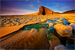 Evening at Nash Point (andrewwdavies) Tags: longexposure sunset sea sky beach water clouds geotagged evening rocks tripod cliffs filters hitech picks circularpolariser canonefs1022mmf3545usm nashpoint neutraldensity ndgrad graduatedfilter glamorganheritagecoast canoneos40d mistywater andrewwilliamdavies 09xnd geo:lat=51403235 geo:lon=3562387 gettyartistpicksoctober09