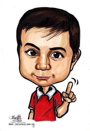 boy caricature in colour 101208