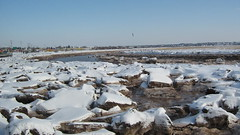 Winter on the Petitcodiac River, Moncton, New Brunswick (JarvisEye) Tags: snow canada ice water river frozen mud newbrunswick moncton petitcodiac
