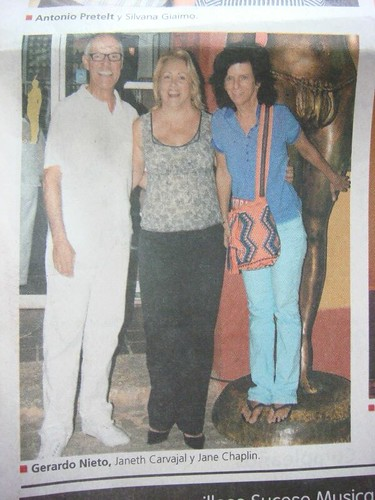 My friend Janet (centre) and Jane Chaplin (right, daughter of Charlie) in Cartagena, Colombia.