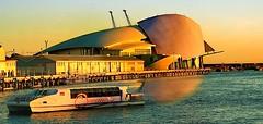 Western Australian Maritime Museum (Kenny Teo (zoompict)) Tags: light sunset sea orange seascape reflection tourism beautiful museum canon boat wave australia tourist maritime perth western transition kenny fremantle abigfave eos1000d zoompict
