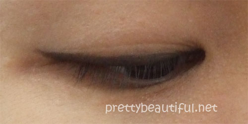 without eyeshadow