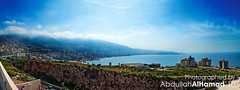Beirut Panorama (abdull) Tags: blue sky panorama lebanon green beirut 1740 abdullah alhamad 5dmarkii