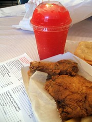 Chicken and frozen lemonade