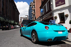 Althani, or apparently not. (Alex Penfold) Tags: auto camera summer london cars alex sports car sport mobile canon photography eos 1 photo cool flickr image turquoise awesome flash wing picture super ferrari spot harrods knightsbridge arabic exotic photograph arab saudi a