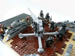 WWII German Flak emplacement. (Lego Junkie.) Tags: modern lego time wwii contest apocalypse german american junkie entry paradox apoc apocalego