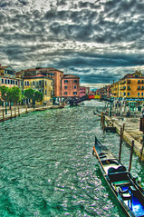 Venice 2 - HDR (AAfap) Tags: street trip travel blue venice trees houses sea people italy cloud lake seascape reflection building tree green art history tourism beach water shop clouds port swimming buildings d50 river lens landscape photography boat cafe italian nikon colorful downtown italia ship photographer taxi parking cost bluesky tourists passengers telephoto filter land handheld 1855mm nikkor venezia colori hdr travelers freelance photogenic 18mm freelancer photomatix tonemapping ageel