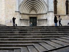 girona cathedral steps (mmboom) Tags: door espaa spain puerta steps porte portal catalunya tor espagne spanien escaleras catalogne gironacathedral