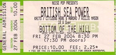 British Sea Power, Bottom of the Hill, Feb. 27, 2004