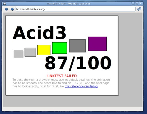 Webkit sous Acid3...