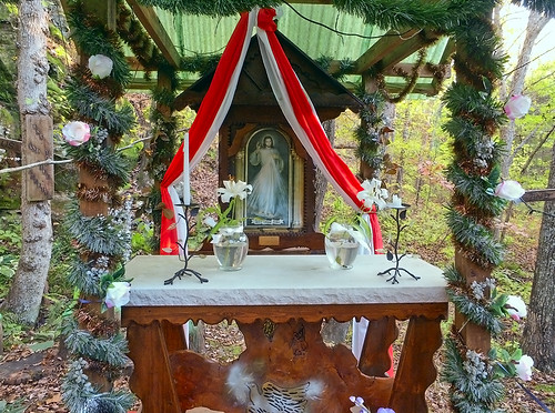 Black Madonna Shrine, in Eureka, Missouri, USA - forest altar
