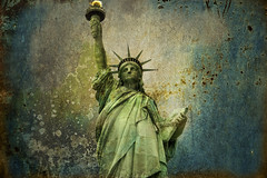 Layered To Death (lemmingstone) Tags: usa ny newyork 300mm textures statueofliberty libertyisland frenchgirl