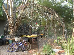 Bicycle wheel dome - CERES Market (avlxyz) Tags: bicycle wheel farmers market dome organic ceres ecofriendly reuse environmentallyfriendly gmofree ecologicallyfriendly
