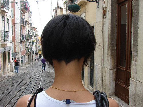 Hair Obsessed: Bob Haircut shaved nape of neck (back view photo)
