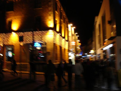 The vibrant Temple Bar nightlife.