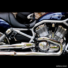 HD (stefano.sivieri) Tags: black reflections still motorbike harleydavidson moto hd riflessi nero acciaio motocicletta cromature