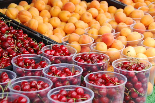 apricots and cherries