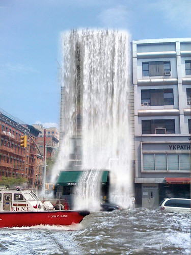 Veselka's NYC East Village Waterfall