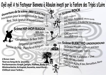 La Fanfare des Tripés sur Loire, Riboul'Park 21 juin 2008