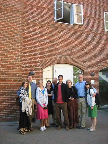 Crew in front of Denmark mission office