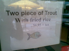 Two piece of trout