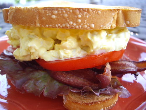 Bacon, Lettuce, Tomato and Egg Salad Sandwich