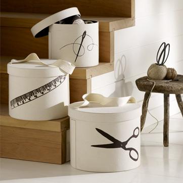 West Elm Nesting Round Boxes