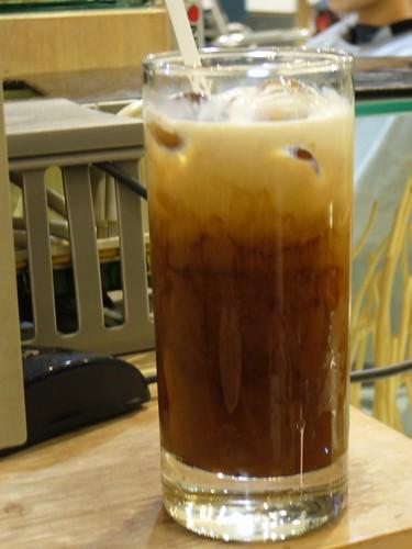 你拍攝的 冰咖啡。