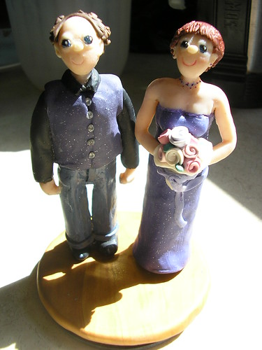 Rick & Cindy Wedding Cake Topper