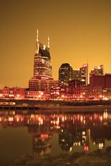 Nashville Glows (crashmattb) Tags: sunset nashville tennessee south filtered canoneosdigitalrebelxti sigma1770mmf2845dc photoshopcs3